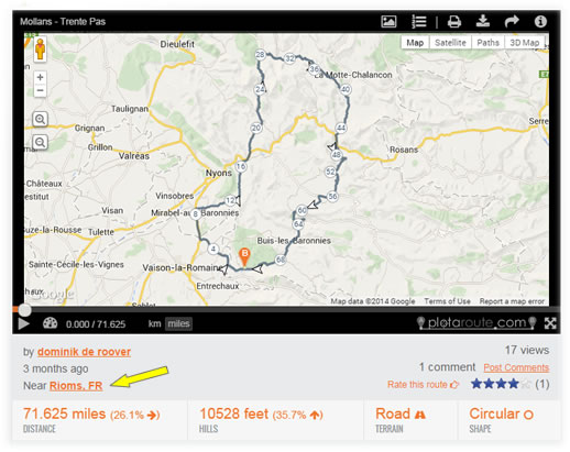 Locality Link on Route Page
