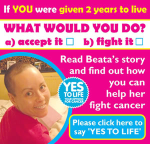 Visit Beata's Cancer Appeal