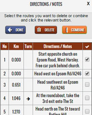 Manage Route Directions