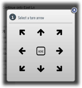 New option to select a Turn Arrow