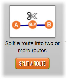 New Split a Route feature