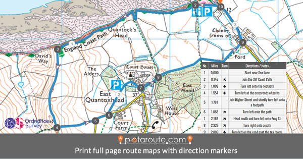 Direction Number Map Markers on Ordnance Survey map