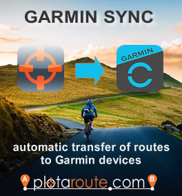 Garmin Sync - automatic route transfer to Garmin devices