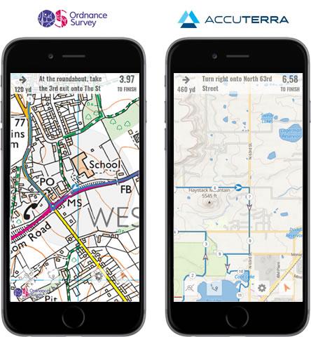 OS and AccuTerra maps