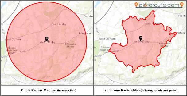 Examples of Radius Maps