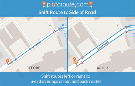 Shift Route tool