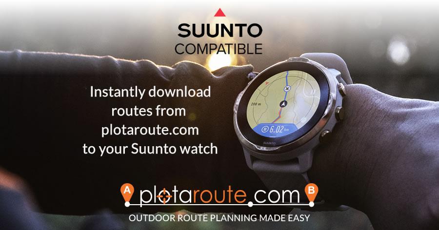 Suunto integration with plotaroute.com